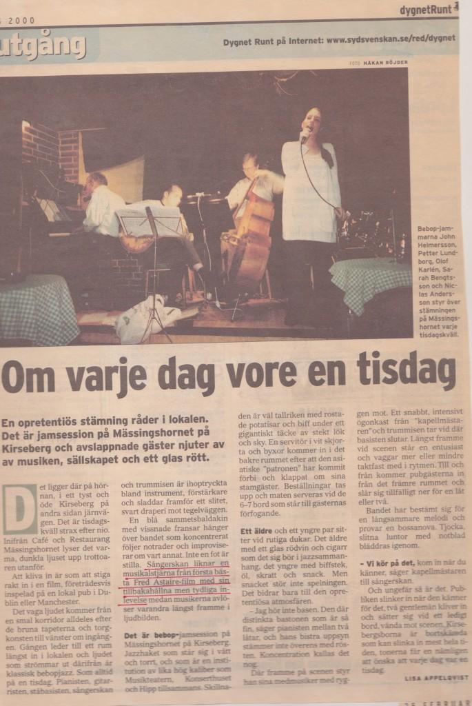 Artikel Mässingshornet Sydsvenska Dagbladet