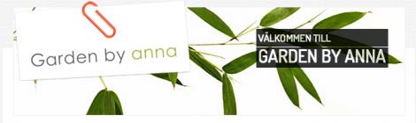 Release för Garden by annas hemsida
