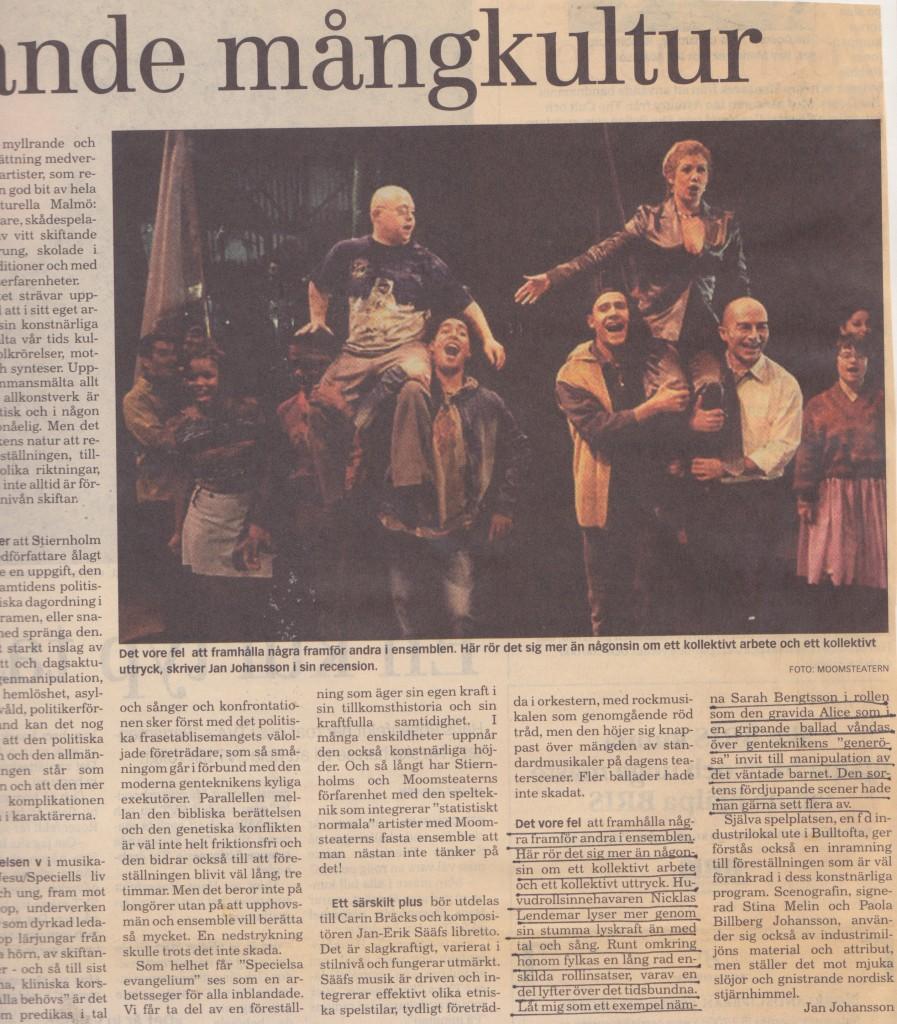 Recension Speciells Evangelium Skånska Dagbladet