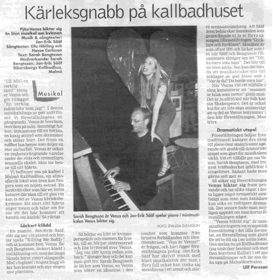 Recension Venus biktar sig Skånska Dagbladet